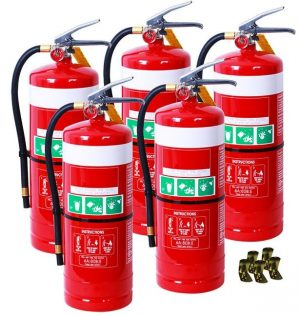 5 x DCP 9kg extinguishes