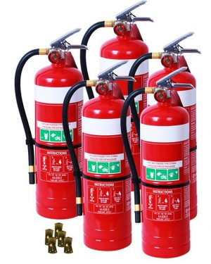 5 x DCP 4.5kg extinguishes
